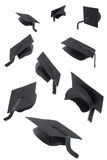 Graduation Caps On White Stock Images