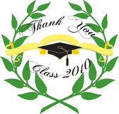 Graduation card. Graduation card on white background Stock Image