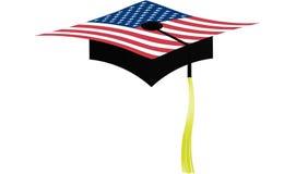 Graduation card. Graduation card on white background stock illustration
