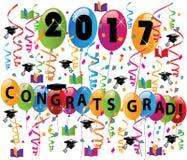 Graduation card congratulation celebration Stock Images