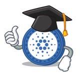 Graduation Cardano coin character cartoon. Vector illustration Stock Photo