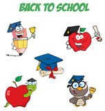 Graduation cartoon character Stock Photos