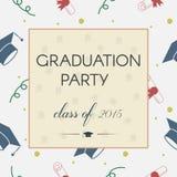 Graduation Celebrating Invitation or Postcard Background Stock Photos