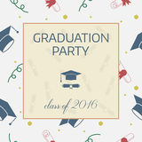 Graduation Celebrating Invitation or Postcard Royalty Free Stock Photography