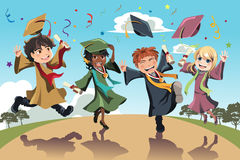 Graduation celebration royalty free illustration