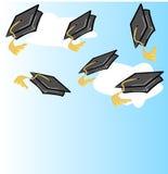 Graduation celebration. Graduation hat or cap - vector illustration Royalty Free Stock Photo