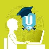 Graduation celebration design. Illustration eps10 graphic Royalty Free Stock Photos