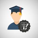 Graduation celebration design. Illustration eps10 graphic Stock Photos