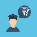 Graduation celebration design. Illustration eps10 graphic Royalty Free Stock Photo