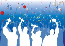 Graduation celebration in silhouette Stock Images
