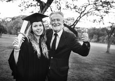 Graduation Celebration Success Certificate College Concept Stock Photography