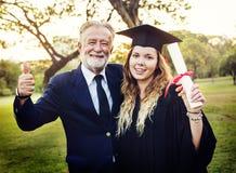Graduation Celebration Success Certificate College Concept Stock Images