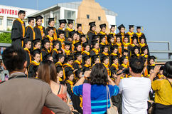 The graduation ceremony in Thailand stock images