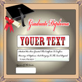 Graduation certificate,diploma Stock Photo