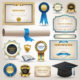 Graduation and certificate diploma elements Royalty Free Stock Photography