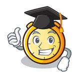 Graduation chronometer character cartoon style Stock Photo