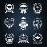 Graduation class badges Stock Images