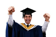 Graduation with clipping path Stock Photo