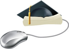 Graduation computer mouse concept Stock Images