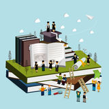 Graduation concept 3d isometric infographic Royalty Free Stock Images