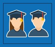 Graduation concept design Stock Image