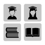 Graduation concept design Royalty Free Stock Photography