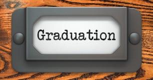 Graduation - Concept on Label Holder. Royalty Free Stock Photos