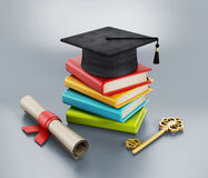 Graduation concept Royalty Free Stock Photography