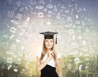 Graduation concept with sketches Stock Image