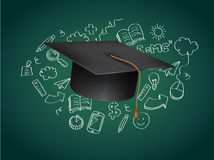 Graduation Concept Vector Illustration Royalty Free Stock Photo