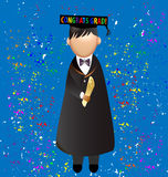 Graduation congrats grad!. Illustration of a student in the celebration of its graduation day vector eps10 Royalty Free Stock Photos