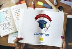 Graduation Congratulation Celebration Certificate Mortar Board C Royalty Free Stock Photos