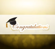 Graduation. congratulations bokeh light sign Royalty Free Stock Image