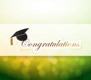 graduation. congratulations bokeh light sign Royalty Free Stock Image