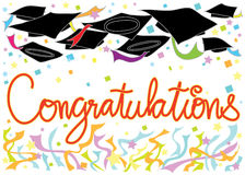 Graduation Congratulations card. Graduation Congratulations graphic card design Royalty Free Stock Photo