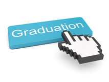 Graduation connected to a computer mouse Stock Photography