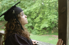 Graduation Contemplation Royalty Free Stock Image
