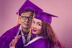 Graduation Couple Royalty Free Stock Photos