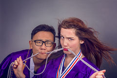 Graduation Couple Royalty Free Stock Images