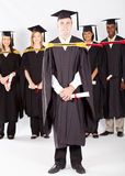 Graduation d'étudiants universitaires Images libres de droits