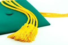 Graduation day. A tassle from a graduation cap in focus Stock Photography