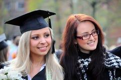 GRADUATION DAY. LCC university students celebrating their graduation day in Klaipeda, Lithuania Royalty Free Stock Photos
