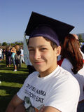 Graduation day. Young guy on a graduation day royalty free stock photos