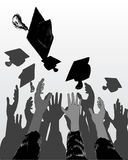 Graduation day. Vector illustration of graduation day celebration Royalty Free Stock Photos