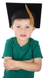 Graduation day for a boy. Graduation day for a young boy Royalty Free Stock Images