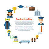 Graduation Day Certification Ceremony Template Royalty Free Stock Photography
