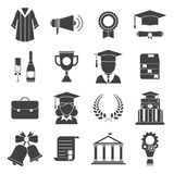 Graduation Day Certification Ceremony Vector Icons Stock Photos