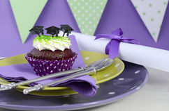Graduation Day Green and Purple Party Stock Photography