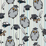 Graduation day. Hand drawn seamless pattern of graduation day - vector Illustration Royalty Free Stock Images