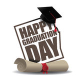 Graduation Day icon EPS 10 vector. Royalty free stock illustration for greeting card, ad, promotion, poster, flier, blog, article, social media or marketing Royalty Free Stock Photos
